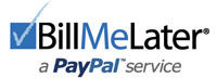 Financing with Bill Me Later by Paypal