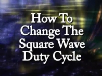 How to change the Square Wave Duty Cycle
